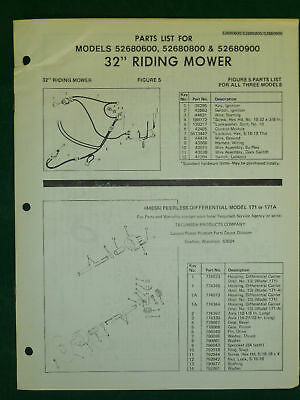 "AMF WESTERN TOOL 32"" RIDING MOWER PARTS MANUAL"