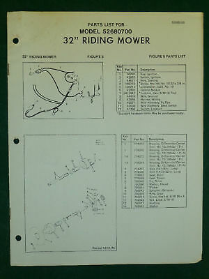 """Amf Western Tool 32"""" Riding Mower Parts Manual"""