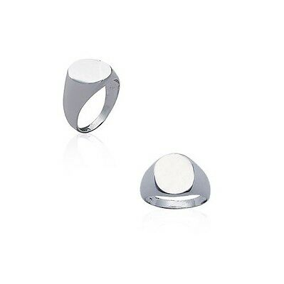 Bague chevaliere OVALE Homme argent 925/000 neuf choix