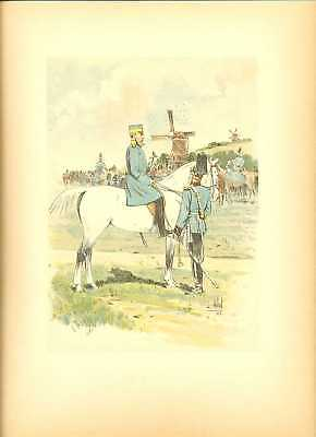 Germany 8th Dragoons R Colonel Lithography Vallet 1891