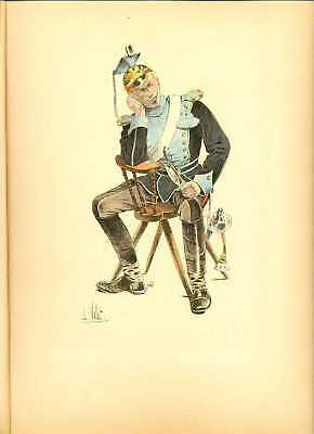Germany Uhlan (12th Regiment) Lithography Vallet 1893