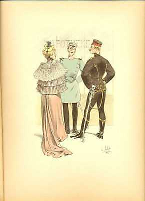 Germany Dragoon Hussar Officers Lithography Vallet 1892