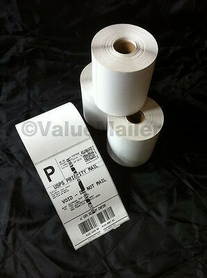 4 Rolls 250 4x6 Direct Thermal Labels Premium Zebra Eltron 2844 Compatible