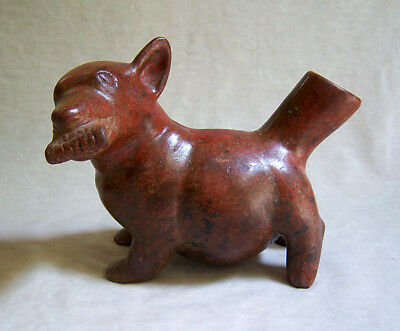 RARE Pre-Columbian COLIMA STANDING HAIRLESS DOG, circa 300 B.C - A.D. 300