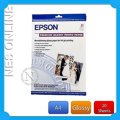 Epson S041285 Premium Glossy A4 Photo Paper 20x sheets P/N:C13S041285