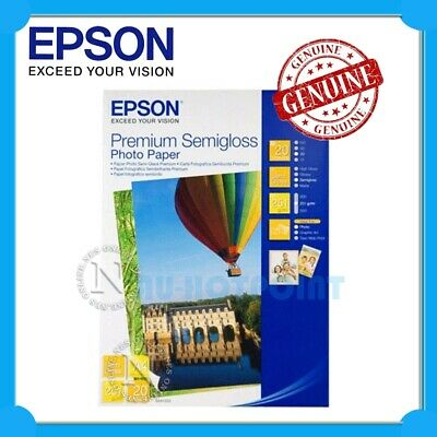EPSON S041332 A4 Premium Semigloss Photo Paper 251g 20x Sheets P/N:C13S041332