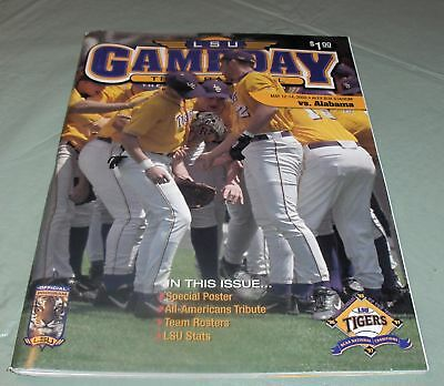 Vintage 2000 Lsu Tigers Vs Alabama Crimson Tide Baseball Program