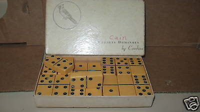Vintage Dominoes Yellow Catlin Dominoes Cardinal xThick