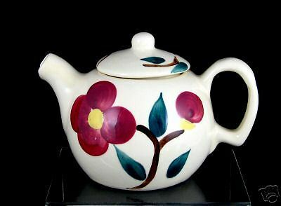 Purinton Pottery 2 Cup Teapot, Mountain Rose Pattern