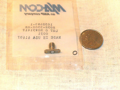 One New 1052689-1 Tyco Ma-Com Macom Amp Sma-F 2 Hole Panel Mount 2052-3502-02