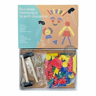 NEW Kaper Kidz Wooden Tap A Shape  Educational Toy Hammers & Nails