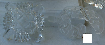 Vintage Antique Cut Etched Floral Perfume Bottle Rare