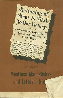 1942 Knox Gelatine booklet- Meatless Main Dishes