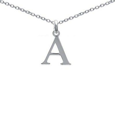 Pendentif HOMME Initiale Lettre A ARGENT Neuf +CHAINE