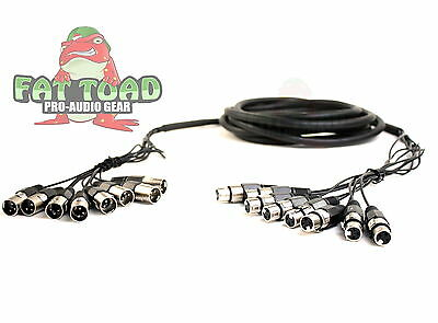 8 Channel XLR Snake Cable 10 Foot PA Pro Audio Patch Stage Cord Mixer Griffin
