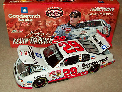 Kevin Harvick 2001 Gm Goodwrench #29 Rookie Of Year Stripes 1/24 Nascar Deicast