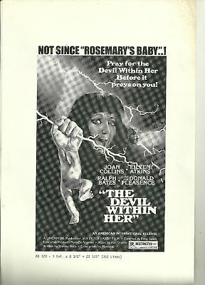 The Devil Within Her (Joan Collins) poster ad