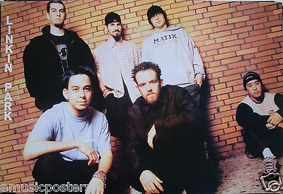 "LINKIN PARK ""GROUP STANDING IN FRONT OF BRICK WALL"" ASIAN MUSIC POSTER -Nu Metal"