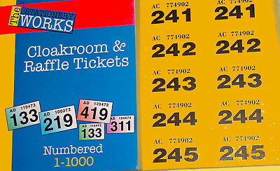 3 books of raffle tickets 3000 uniquely coded numbered duplicate easy tear stubs