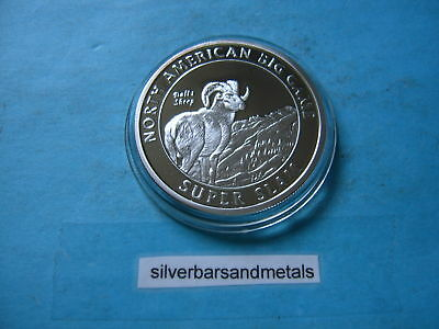 Dalls Sheep Super Slam Hunting Club 999 Silver Coin Round Sharp