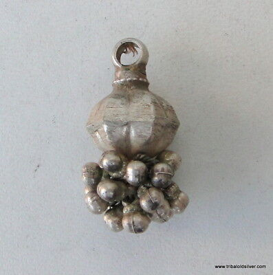 Ethnic Tribal Old Silver Pendant Forhead Ornament India