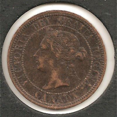 1876 H VF-XF Canadian Large Cent #1