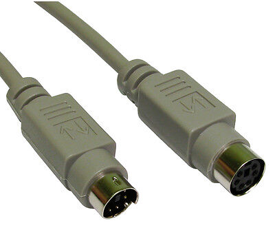 5m PS2 Keyboard Mouse EXTENSION Cable Lead 6 pin PS/2