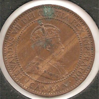 1909 AU Canadian Large Cent #1 (corrosion) Reduced!
