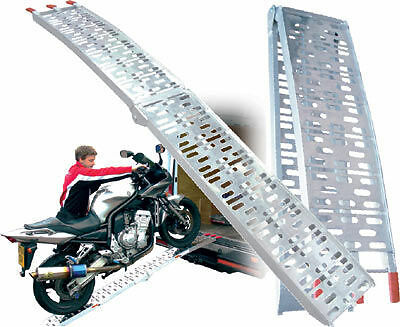 MOTORCYCLE ALUMINIUM FOLDING LOADING RAMP Bike It Van Trailer PDSRAMP01