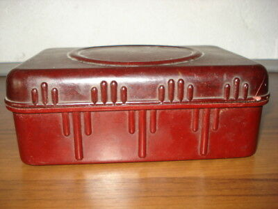 Old Vintage Large Brown Bakelite Box Mid Century