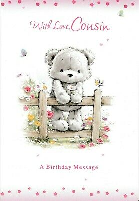 Female Cousin Cute Happy Birthday Card