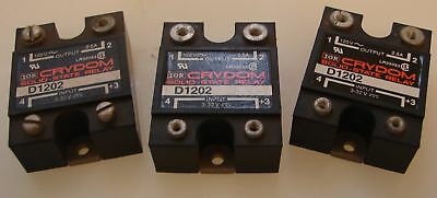 Crydom D1202 Solid State Relay USED LOT OF 3  |  GREAT!