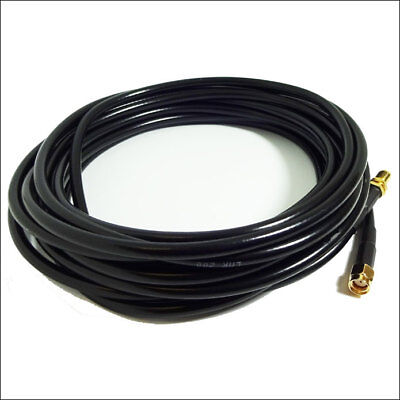 NEW RP-SMA Male to Female coaxial Wi-Fi antenna extension cable 5m CFD-200 Alfa