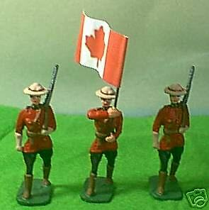 TOY SOLDIERS METAL POLICE  RCMP COLOR PARTY 54MM
