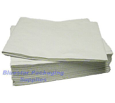 100 x White Disposable Paper Table Cloth Cover 90x90cm