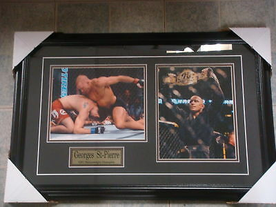 UFC Georges St-Pierre Dual Photo Framed 26x17