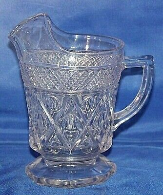 """Cape Cod  Footed Milk Pitcher With Ice Lip 6"""" #240 16oz"""