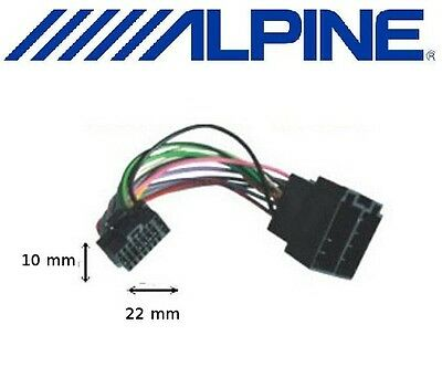 Cable adaptateur ISO pour autoradio ALPINE CDE-193BT CDE-195BT CDE-196DAB