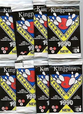 8 Pack Lot 1990 Kingpins Bowling Premier Edition Cards