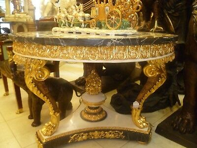Empire Style Marble Bronze Dore Table
