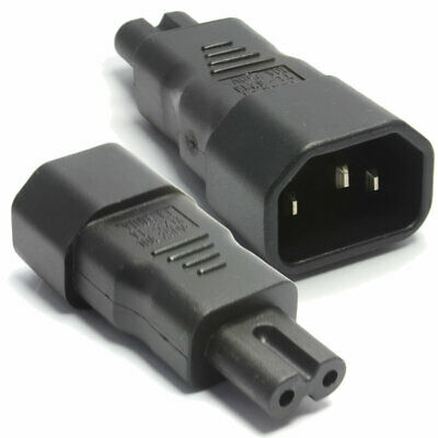IEC Socket C14 to Figure of Eight C7 Plug Adpater