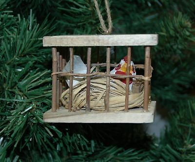Chicken, Hen In Crate Christmas Ornament