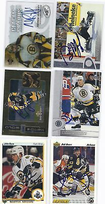 Steve Staios Signed Hockey Card Boston 1996 UD Rookie
