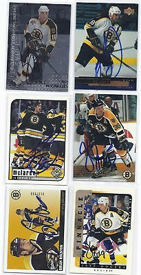 Jeff Odgers Signed Hockey Card Boston 1997 Pacific