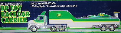 1994 Bp Race Car Carrier Truck With Race Car Nib