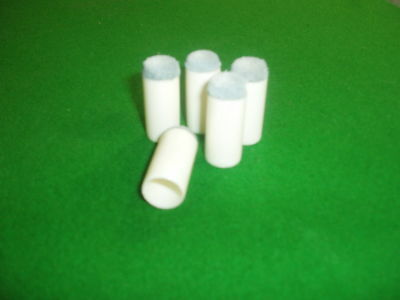 12mm POOL / SNOOKER PUSH ON TIPS x 5