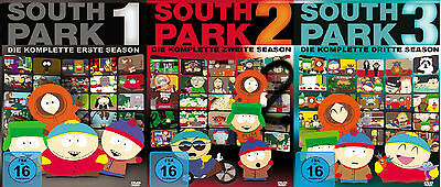9 DVDs * SOUTH PARK - STAFFEL / SEASON 1 - 3 IM SET # NEU OVP +