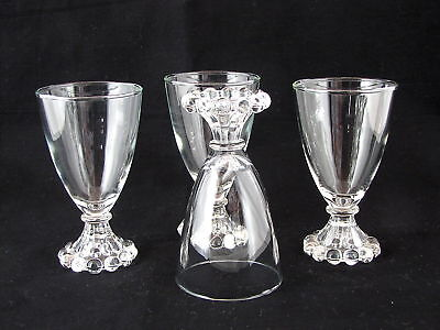 "4 ANCHOR HOCKING BOOPIE GLASS JUICE GLASSES, 4.5"" tall"