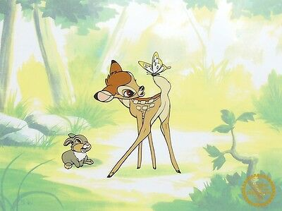 Disney Original Animation Art Cel Bambi & Thumper