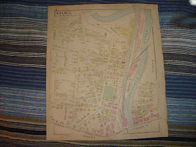 1892 Antique Nashua New Hampshire Handcolored Map Ward 3 8 More Superb Nr